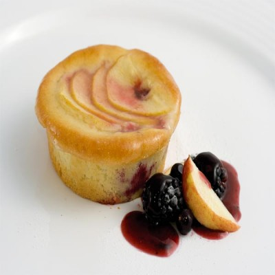 Apple & Blackberry Pudding - Individual x 12's