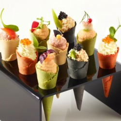 Canape Cones - Four Colours -7.5cm x 96 (508)