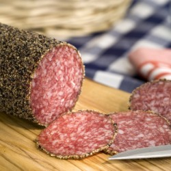 Black Pepper Salami - German - App. 1.7 kg