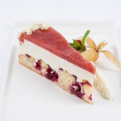 Raspberry, Strawberry & Lemon Torte