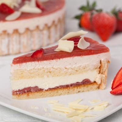Strawberry & Prosecco Charlotte