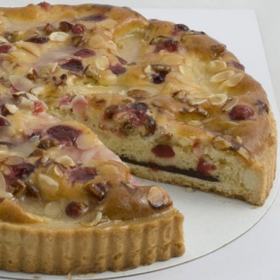Nutty Pear & Cranberry Frangipan