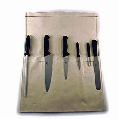 Canvas Knife Wallet - 6 Pocket