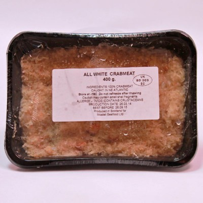 Crabmeat White - Frozen 400grms.