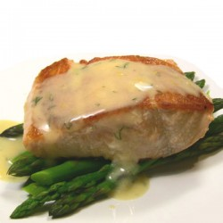 Salmon and Asparagus with Beurre Blanc