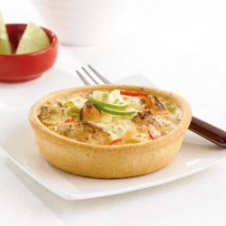 Thai coconut curry and chicken quiche